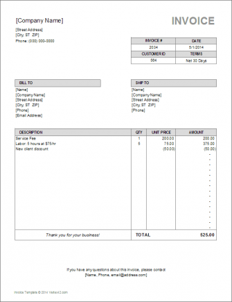 10 Simple Invoice Templates Every Freelancer Should Use Invoice Template Word Invoice Template Invoice Format In Excel