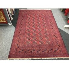 GENUINE HAND KNOTTED KHAL MOHAMMADI RUG RED 1.98 X 2.95M