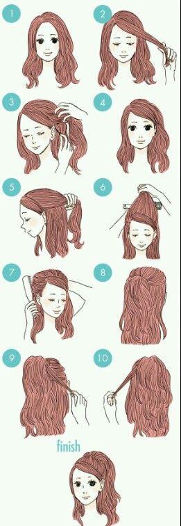 Tutoriales paso a paso para el cabello proporcionados en el tablero de Peinados útiles.  Seguir por …  – Peinados