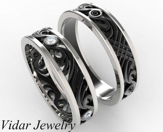 his and hers matching wedding band set unique matching wedding