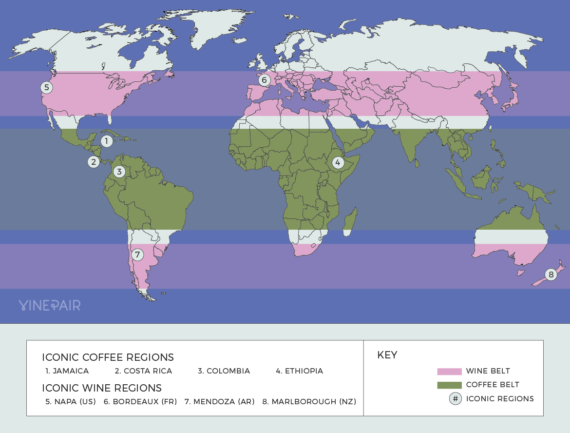 An Interactive Map of the World's Coffee and Wine Growing