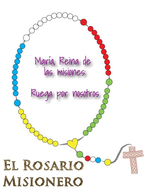 Dibujos Para La Catequesis Misionera Rosario Misionero Rosarios Misionero
