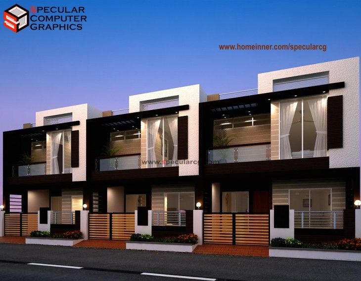 Row House Design By Specular Cg Indian Home Design House Plans Construction Interior Design Modular K Row House Design Townhouse Designs Home Building Design