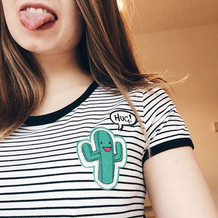 See this Instagram photo by @notonlyfortheweekend • cactus print stripe tee