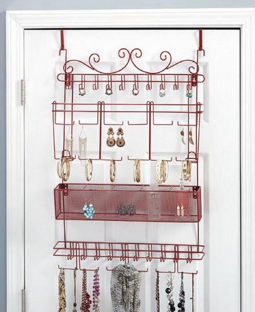 Hanging Jewelry Rack Over the Door Earring Bracelet Necklace Storage