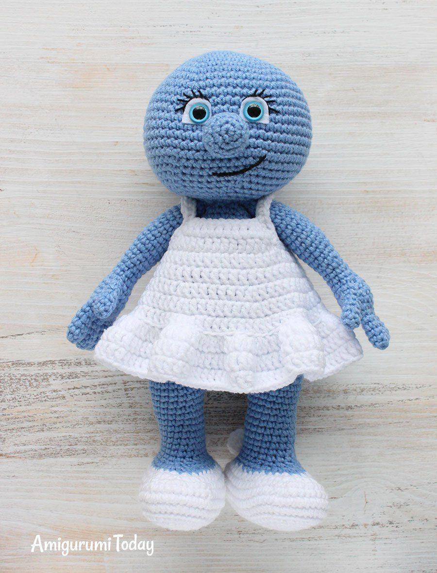 Amigurumi Smurfette crochet pattern - assembly   amigurumi ...