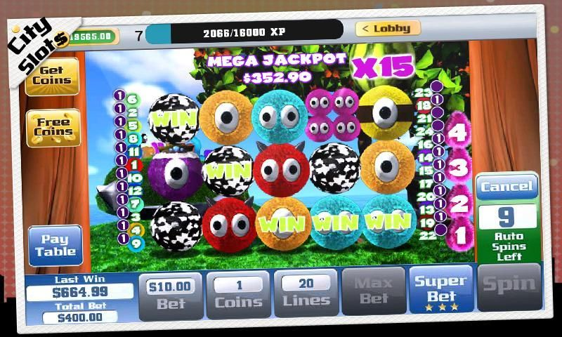 City Slots is the best new, free to play, multi line slots