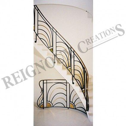 Rampe d\'escalier fer forgé ART DECO   Maison - rampe d\' escalier ...