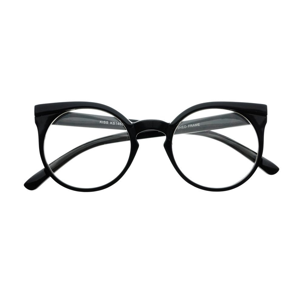b0676f3e788 Retro Vintage Style Keyhole Clear Lens Cat Eye Round Glasses Frames R1790