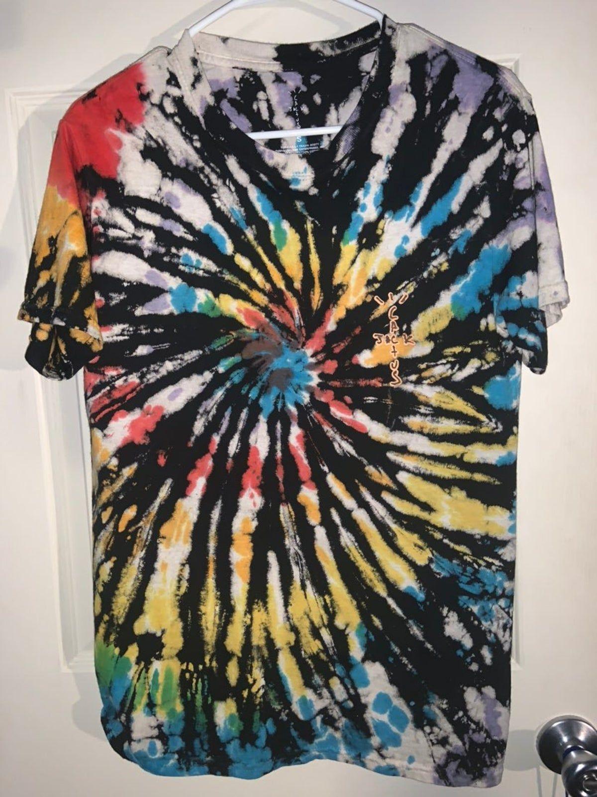 Travis Scott Highest In The Room Shirt In 2021 Tie Dye Shirts Patterns Tie Dye Shirts Shirts [ 1601 x 1200 Pixel ]