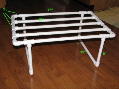 I Made This Drying Rack For Cloth Diapers Out Of Pvc And It Fits On