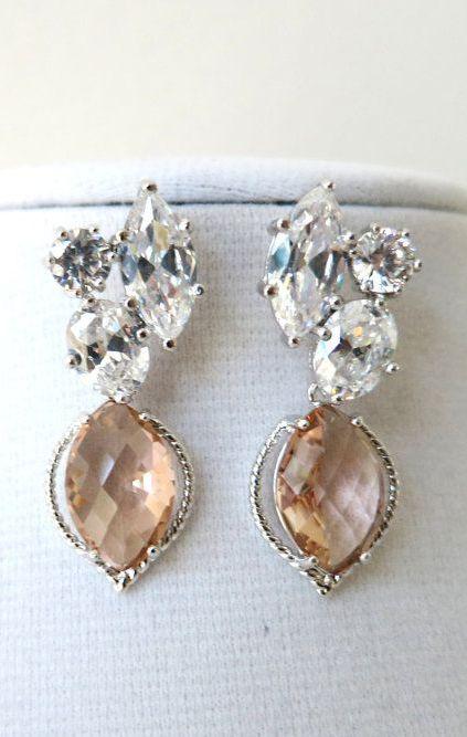 Reggi Champagne Glass Marquise Earrings