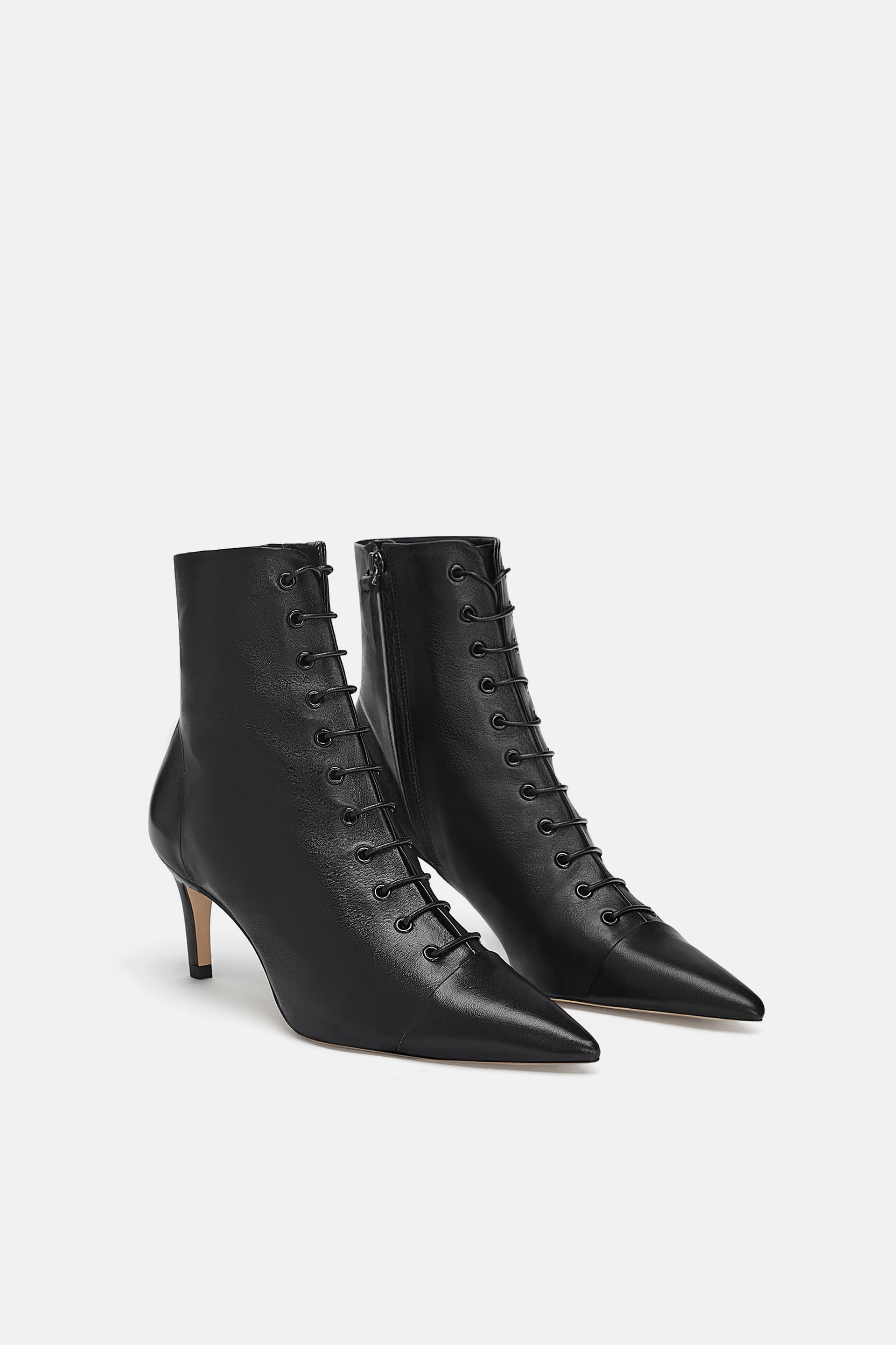 The Zara Sale Might Be Nearing Its End But Don T Fret Its New Collection Is Officially Here Refinery2 High Heel Boots Ankle Mid Heel Ankle Boots Zara Boots