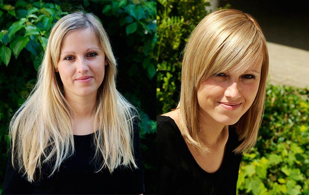 Fotos: Vorher - Nachher Frisuren #frisuren50plus #