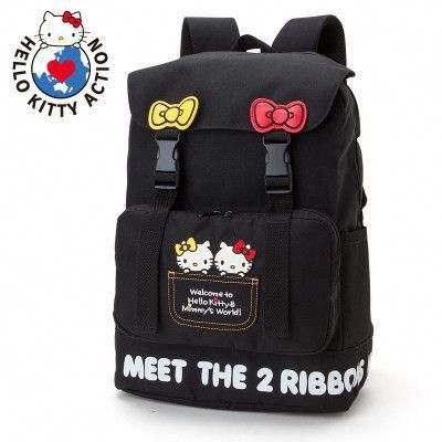 257281a137 Hello Kitty Mimmy Backpack Meet The 2 Ribbons SANRIO JAPAN