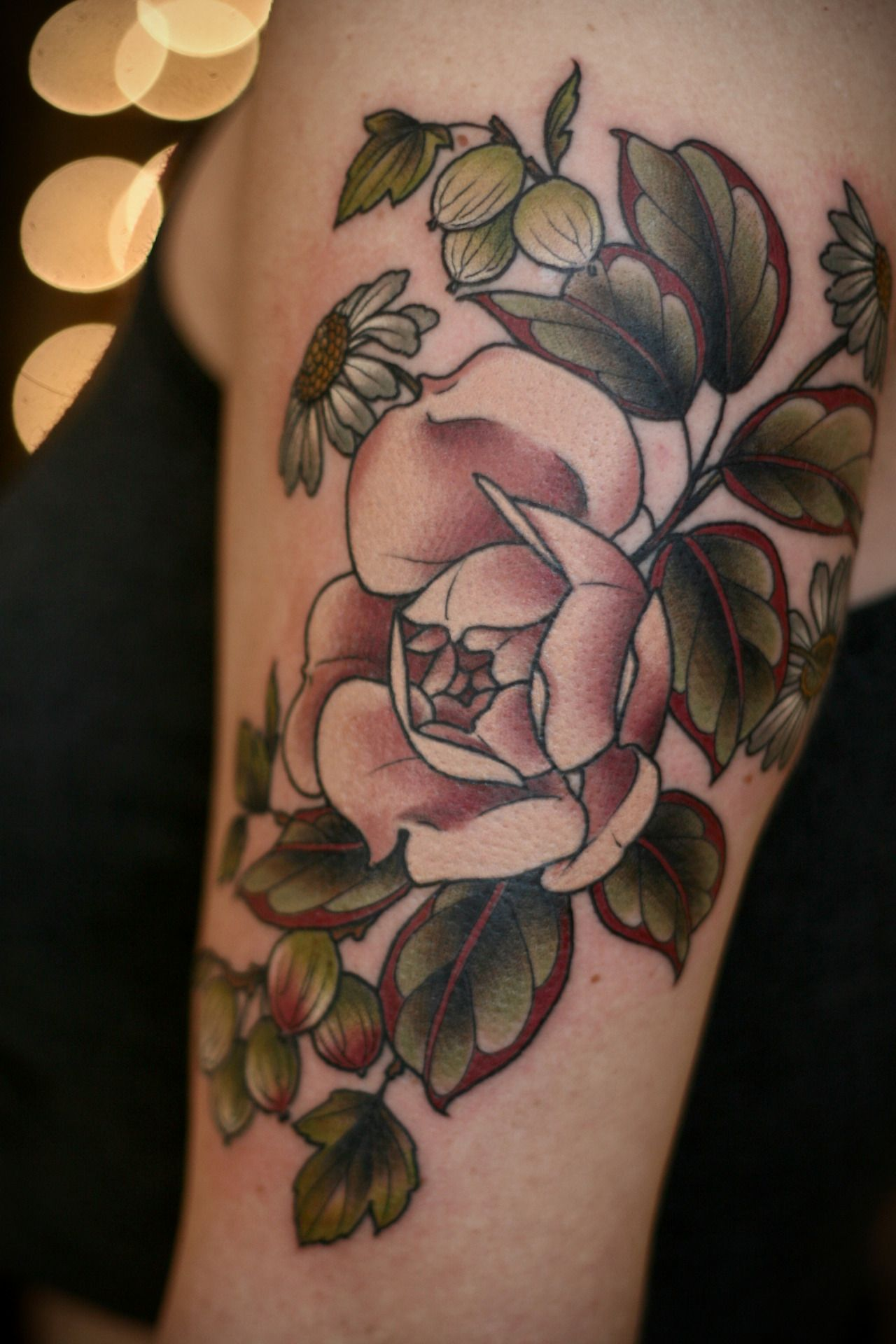 kirstenmakestattoos Tattoos, Rose tattoos tumblr, Baby