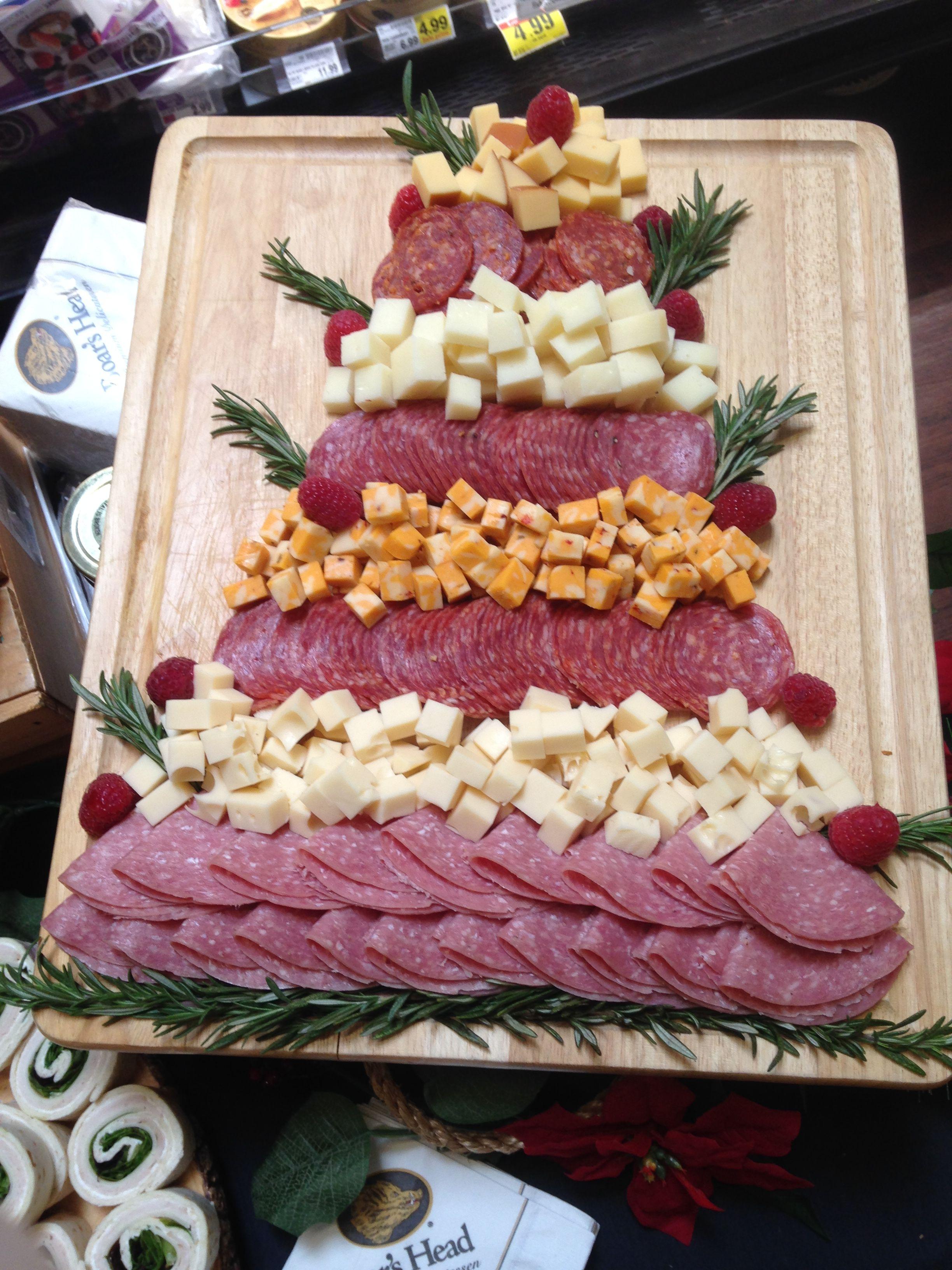 Charcuterie christmas tree food holiday recipes