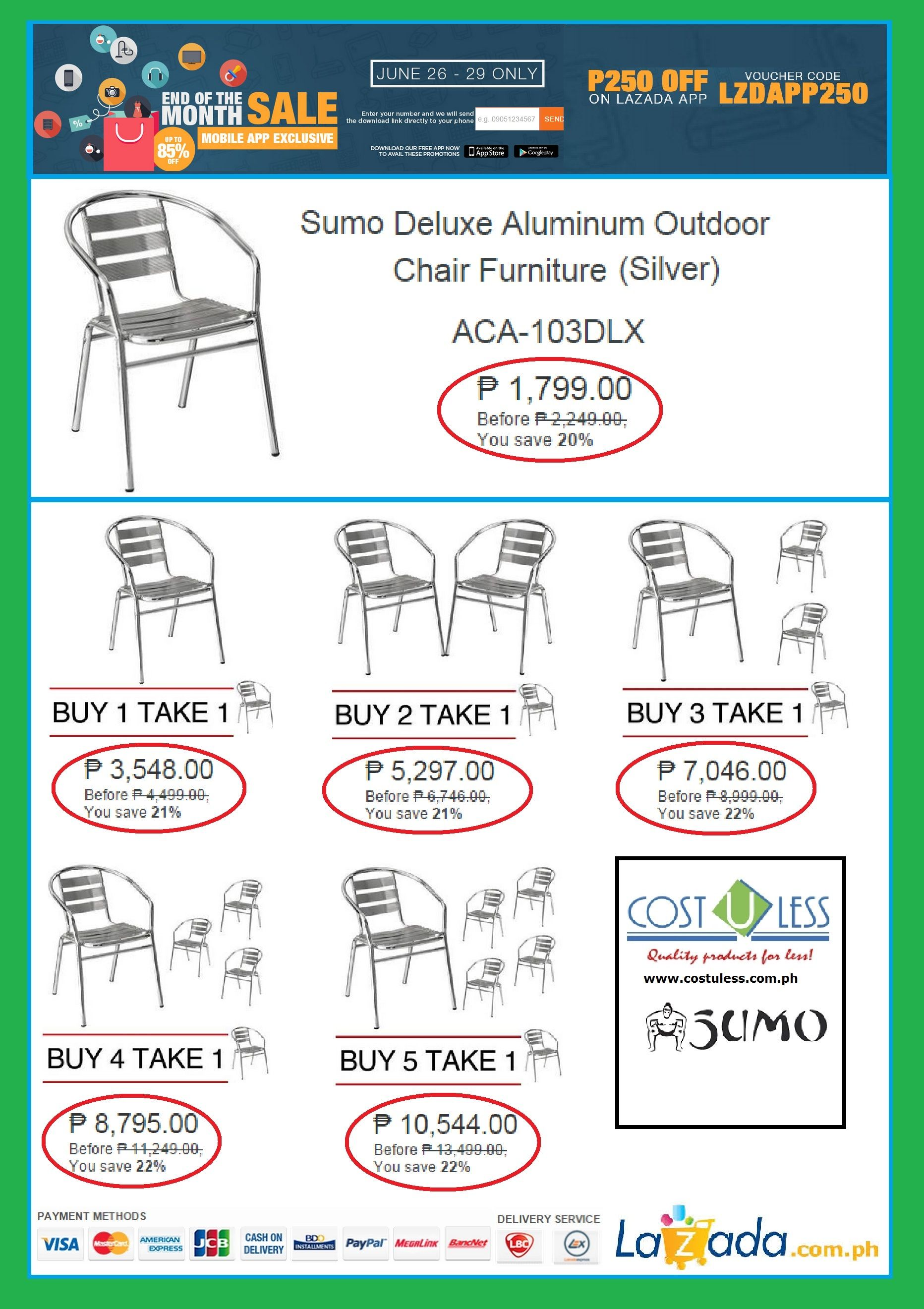 HOME & RESTAURANT FURNITURE SALE LAZADAEND OF THE MONTH