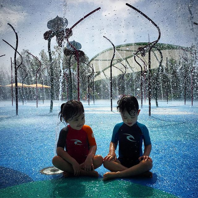 explore the sights and sounds of natures playground of the childrens garden and waterpark at gardens on the bay singapore - Garden By The Bay Water Park