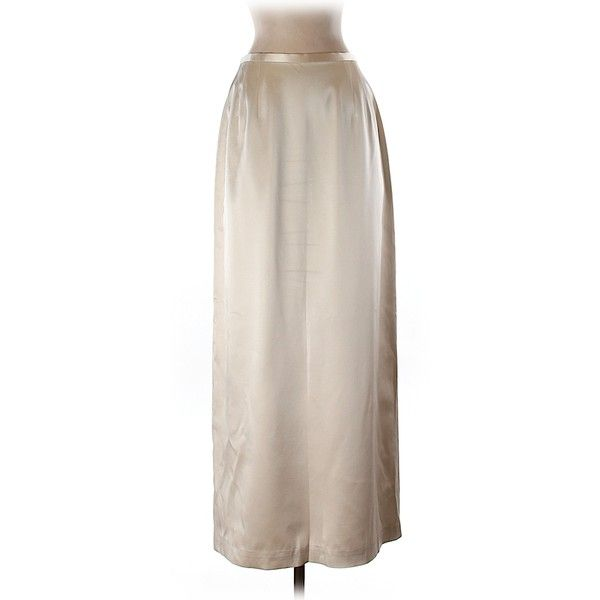 Pre-owned Kay Unger Silk Skirt Size 6: Beige Women's Skirts ($44) ❤ liked on Polyvore featuring skirts, beige, beige skirt, silk skirt, pink silk skirt, pink skirt and kay unger new york