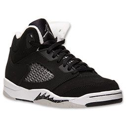 Boys' Preschool Air Jordan 5 Retro Basketball Shoes | FinishLine.com | Black /