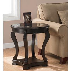 Geurts Espresso End Table Espresso End Table Glass Table Round Coffee Table Living Room
