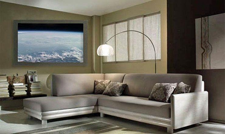 futuristisches möbeldesign tv system provides realistic breathtaking view outside your window technology das fenster futuristisches