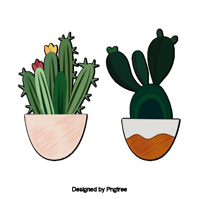 Cute Plant Pots Cartoon