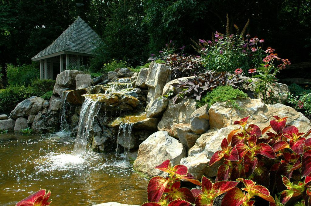 Pond Caves For Fish Ask Your Pond Designer Builder To
