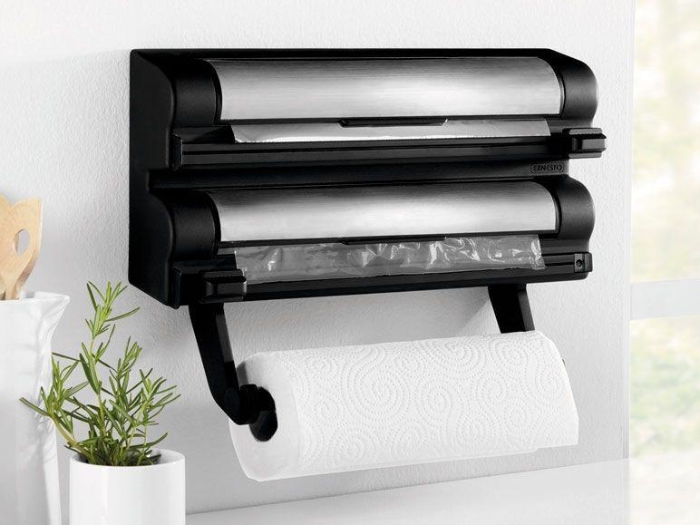 Kitchen Roll, Foil U0026 Cling Film Dispenser Wall Mounted Storage / Holders
