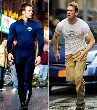 Image result for chris evans human torch captain america