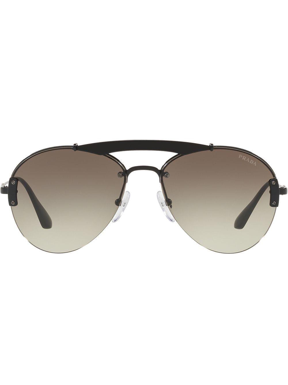 Aviator Prada Classic Black Eyewear Sunglasses xT16w
