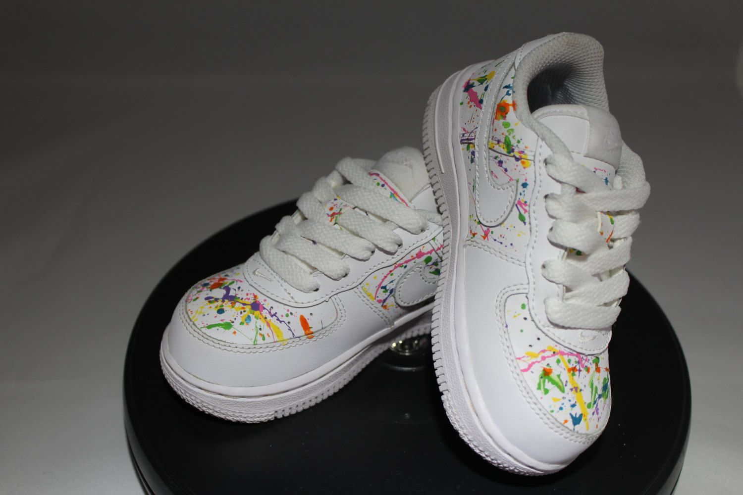 on sale a0898 918ee Custom Splatter Painted Air Force Ones- Hand Painted Tennis Shoes- Nikes- Splatter  Paint- Custom Tennis Shoes- Custom Painted Air Force Ones by ...