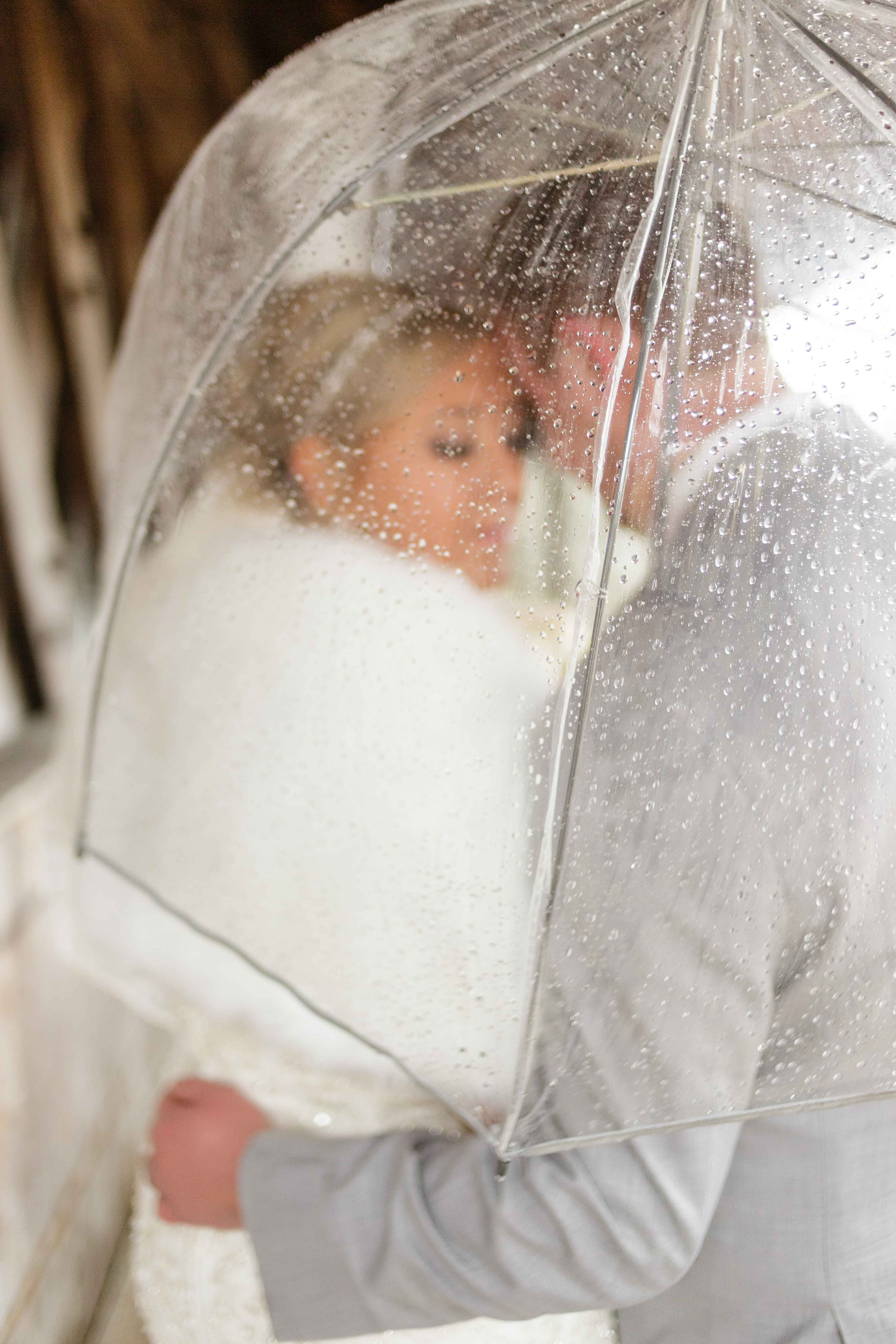 Rainy Day Wedding Pictures Ideas Bride and