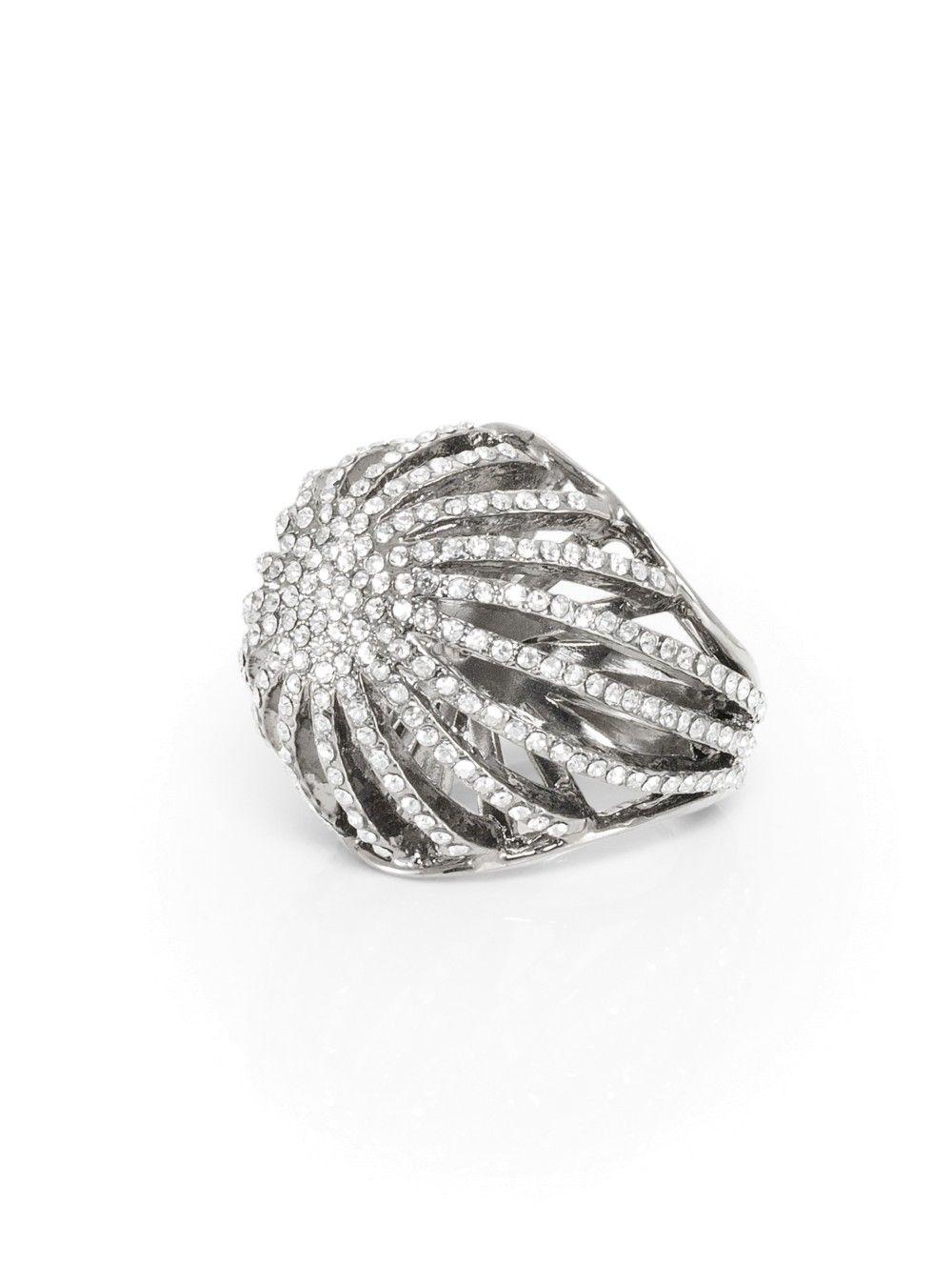 Swarovski Crystal Cocktail Ring | St. John Knits