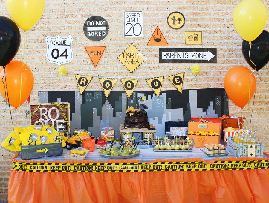 Fiesta Tem 225 Tica Bday Parties Construction Birthday