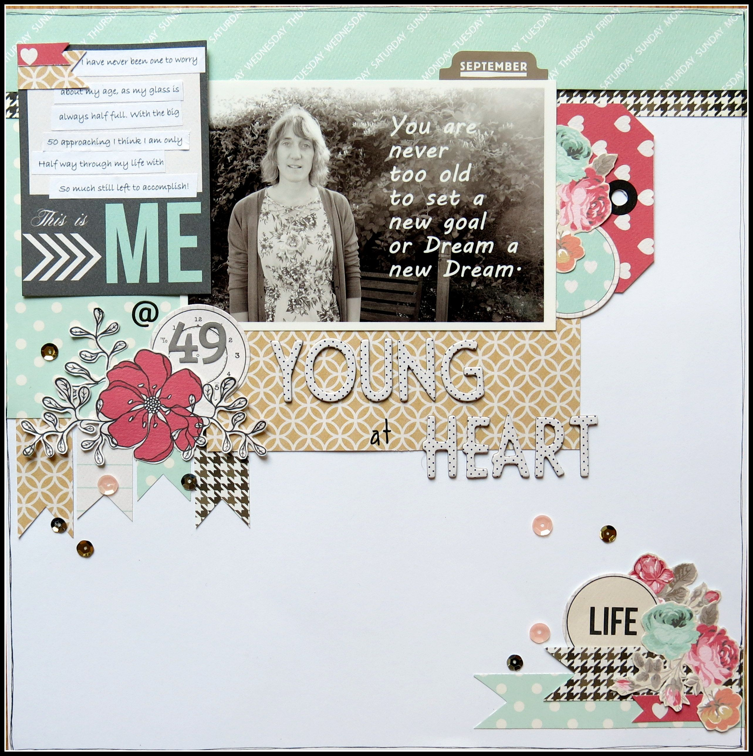 Young At Heart Scrapbook Like The Idea Behind This Page And