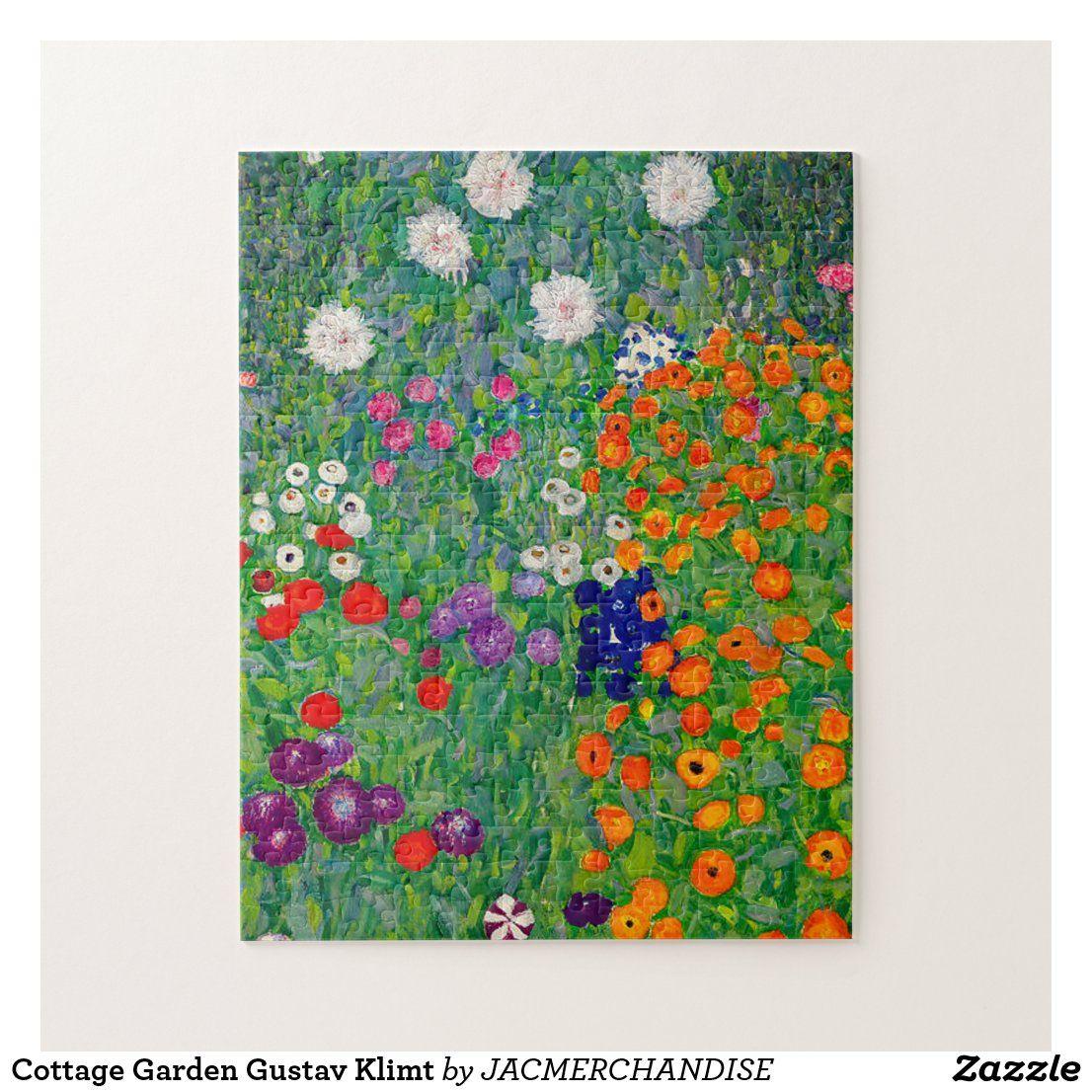 Cottage Garden Gustav Klimt Jigsaw Puzzle