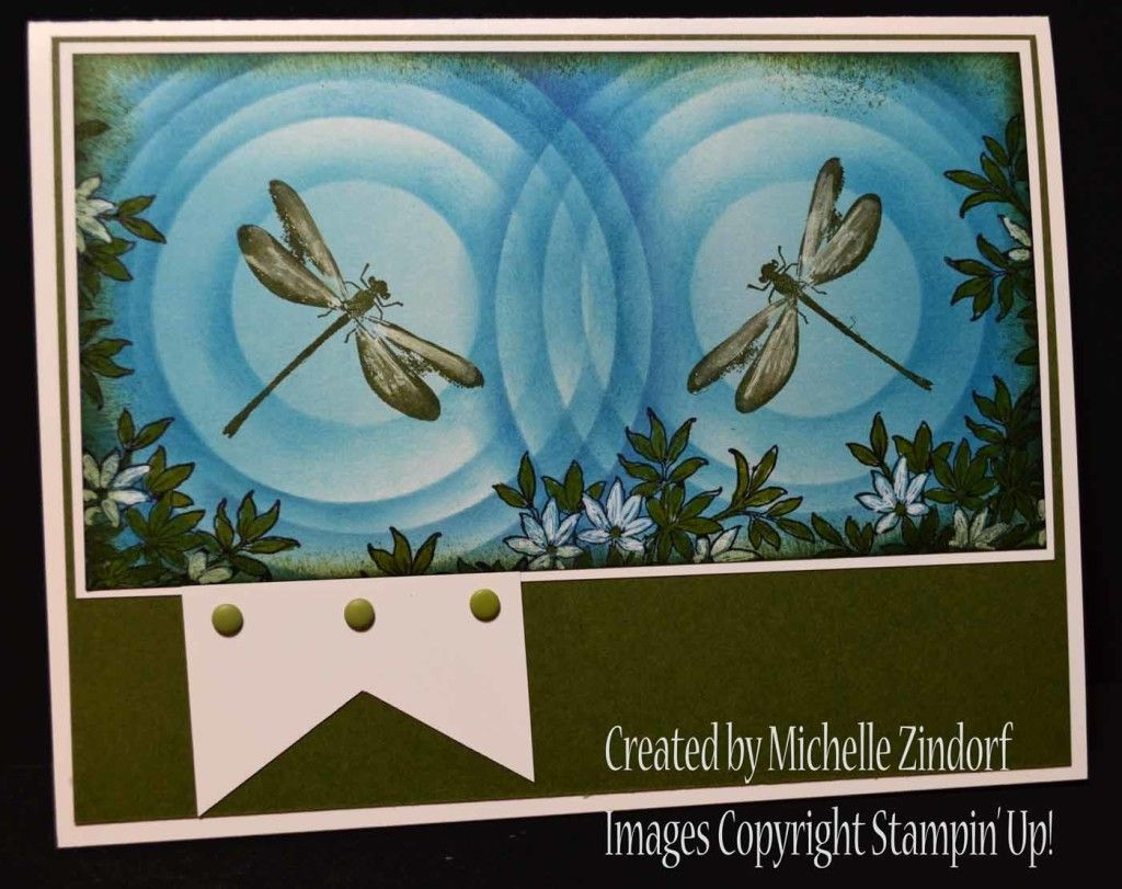 Dragonflies card created by Michelle Zindorf using Stampin' Up! Products - Awesomely Artistic