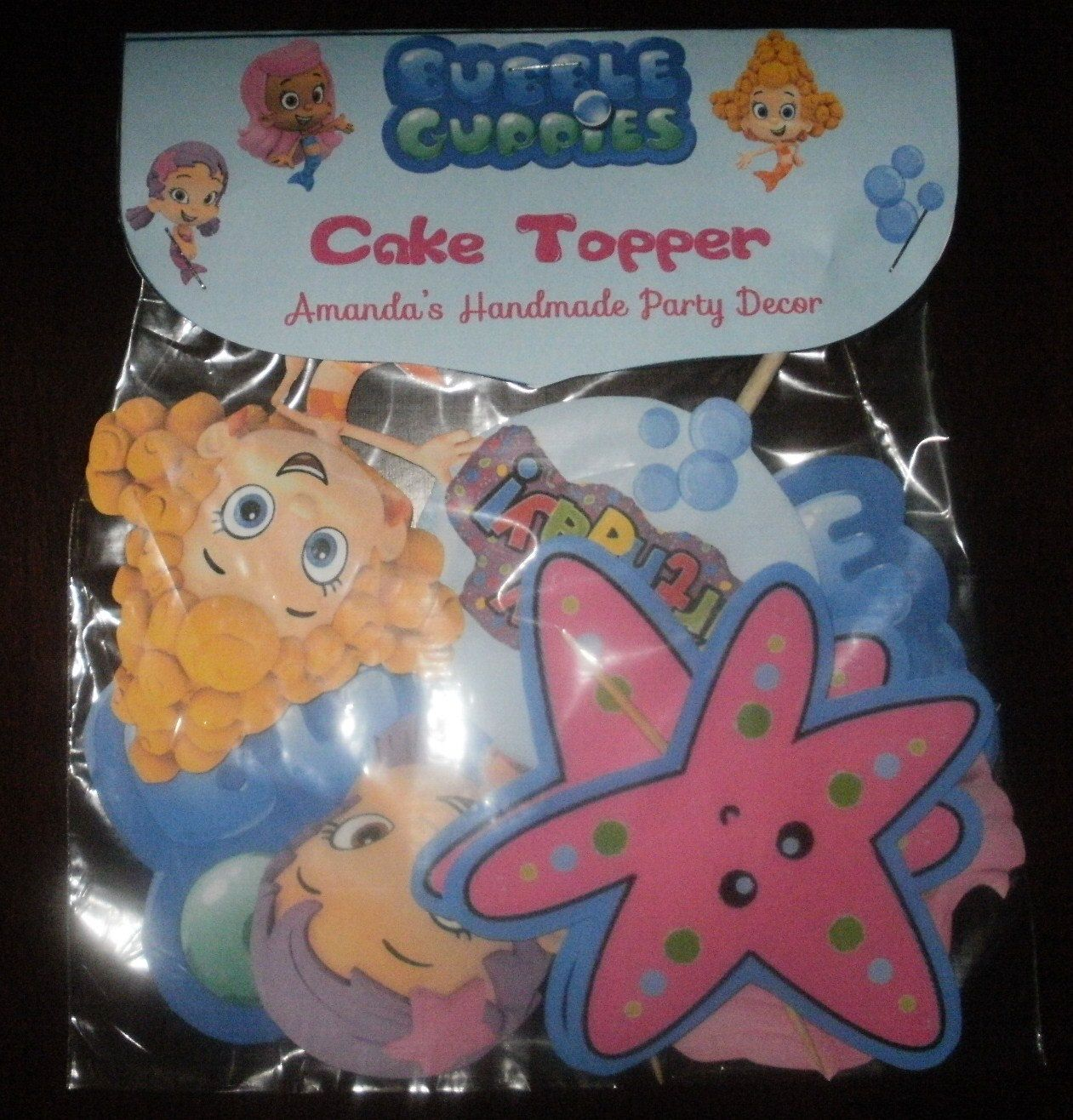 4 Piece Bubble Guppies Cake Topper Molly by HandmadePartyDecor ...