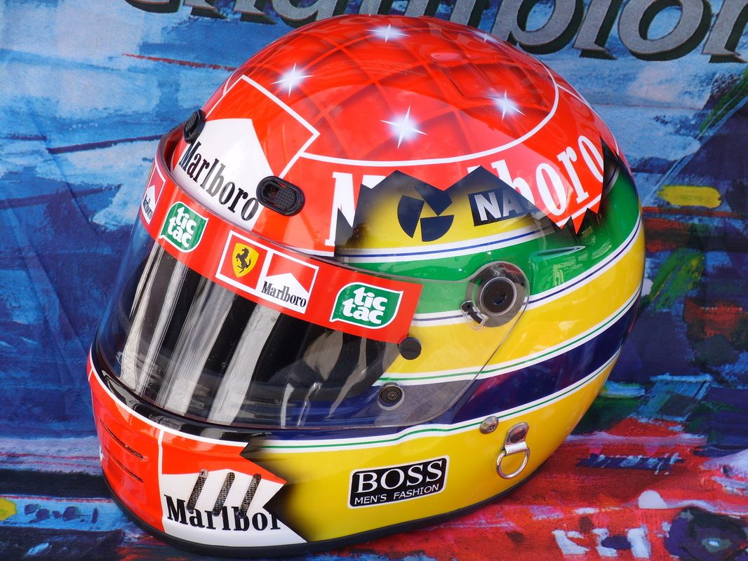 michael schumacher senna tribute the best helmet ever. Black Bedroom Furniture Sets. Home Design Ideas
