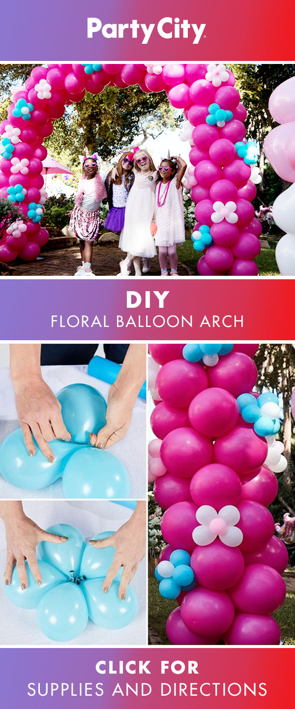 Visit Partycity For Floral Arch Birthday Balloon How To And Shop Girls Balloons Party Supplies Decor