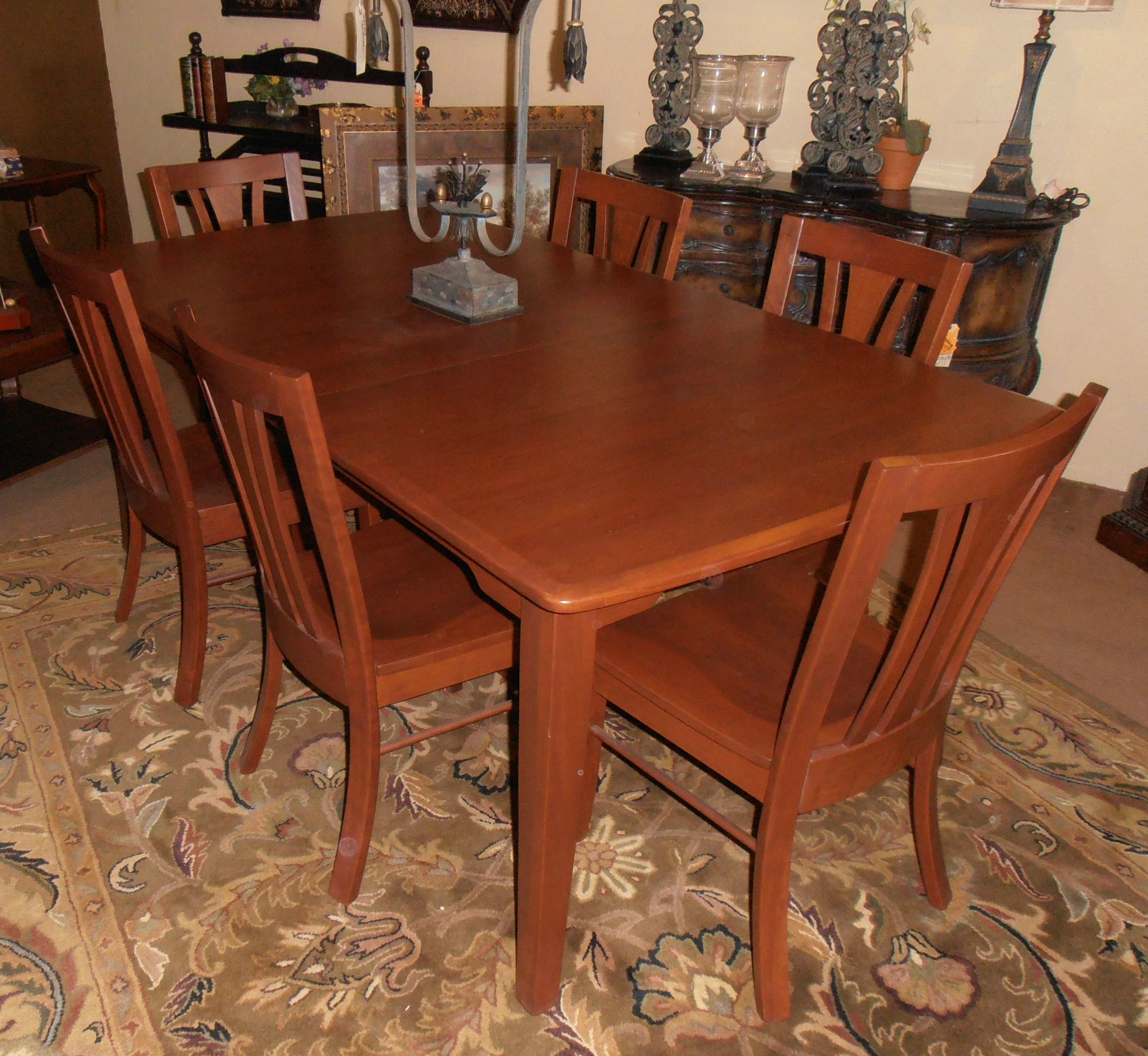 Amish Solid Cherry 42 X 60 2 18 Leaf Shaker Table And 6 Chairs Kitchen Remodel Dining Dining Table