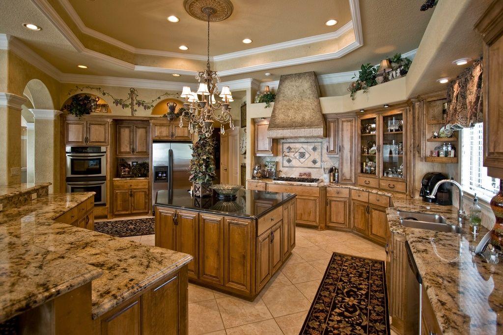 mediterranean kitchen with high ceiling limestone tile floors rh pinterest com