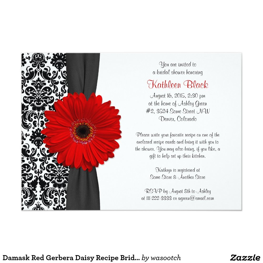 Outstanding Bridal Shower Invitations Black And White Ornament ...
