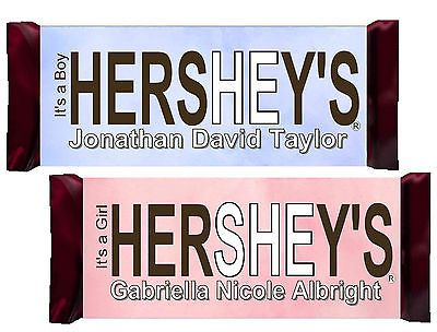 24 BABY SHOWER CANDY BAR WRAPPERS HERSHEY WRAPPERS Girl baby
