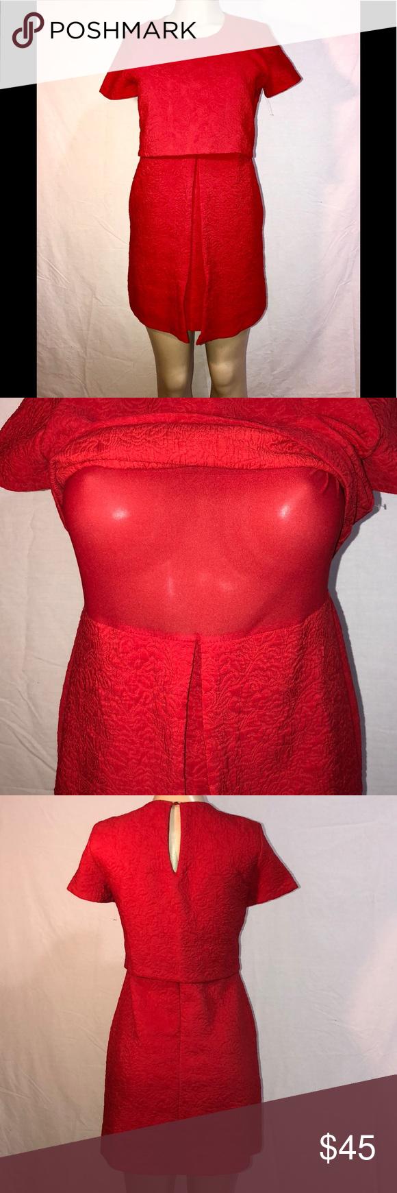 Red zara dress in my posh picks pinterest zara dresses