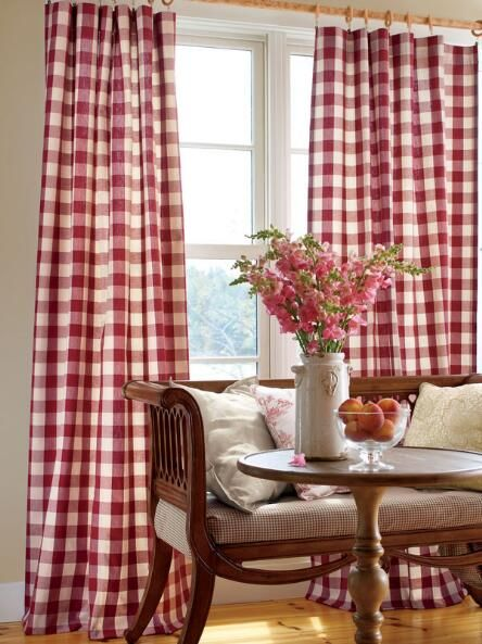 Red Buffalo Check Shower Curtain For Hall Bath Country Curtains Gingham Curtains Home