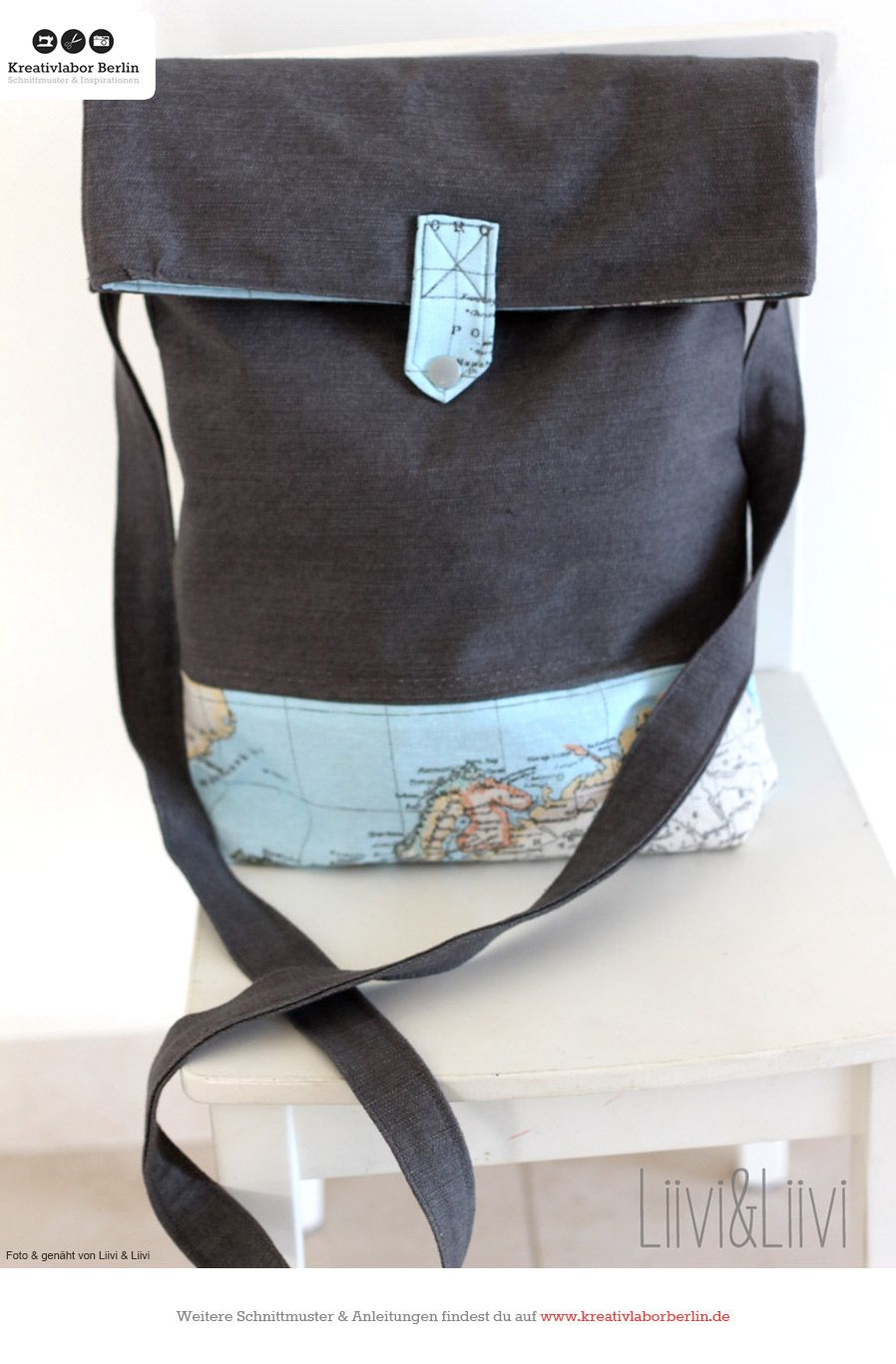 tasche fred designbeispiele schnittmuster rucksack. Black Bedroom Furniture Sets. Home Design Ideas