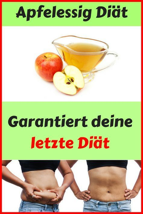 Apfelessig Diät verbrennt Fett